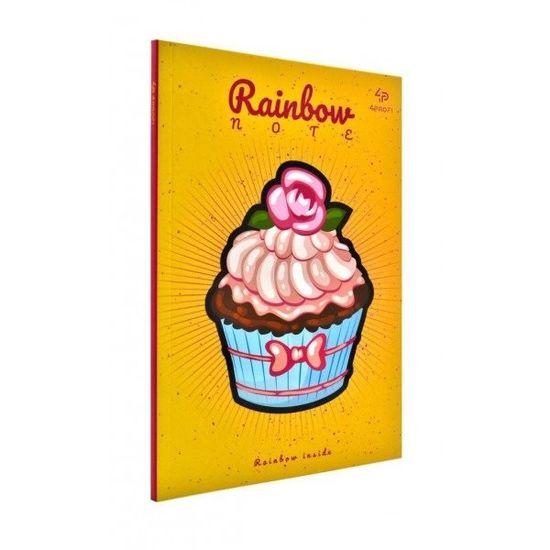 Блокнот А5 Profiplan Artbook Rainbow Cake цветные страницы 96 страниц Peach персик