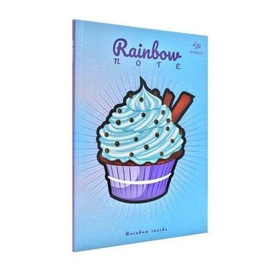 Блокнот А5 Profiplan Artbook Rainbow Cake цветные страницы 96 страниц Blue синий