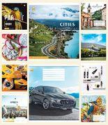 Зошит в клітинку 60 аркушів кольорова обкладинка, дизайн: Мікс 60КВ1 Тетрада ТЕ51616
