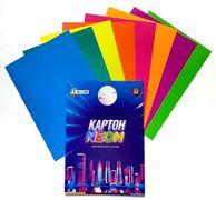 Картон цветной односторонний А4, 8 листов 8 цветов. В картонной папке. Неон Family Line Тетрада ТЕ12946