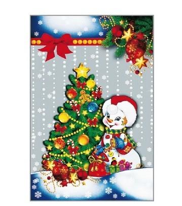 Пакет подарунковий новорічний 20*30 100шт/уп (1)