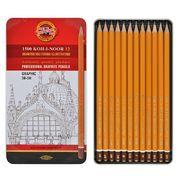Набір графітних олівців 1500 KOH-I-NOOR Graphic для графічних робіт, 5В-5Н, 12 шт. 1502.III (1)