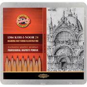 Олівці графітні 1500 8В-10Н, 24 шт. 1504 (1)