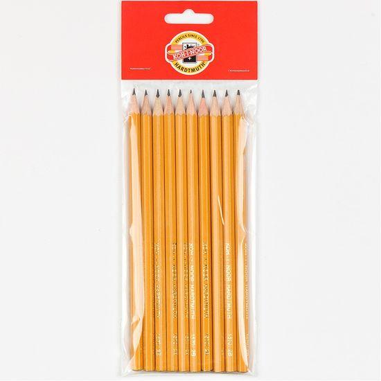 Набір олівців графітних 1570, 10 шт. Твердість - 2B. Покриття - кольоровий лак жовтого кольору. Упаковка - полібег. 1570.2B/10P (1)