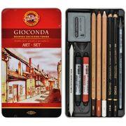 Набір художній GIOCONDA 8890, 10 предметів,мет.уп. 8890 (1)