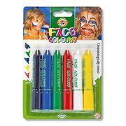 Фарби для обличчя, 6 шт., Standard colors 4610_6 (1)