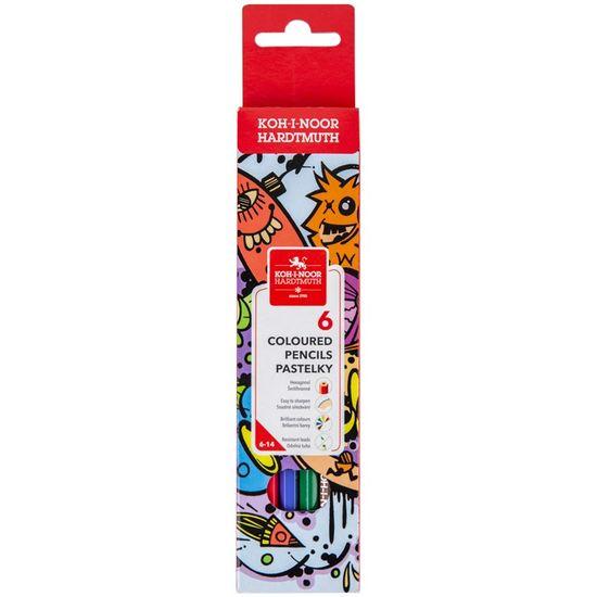 Олівці кольорові TEENAGE, 6 кольорів, картонна упаковка 3551 (1)