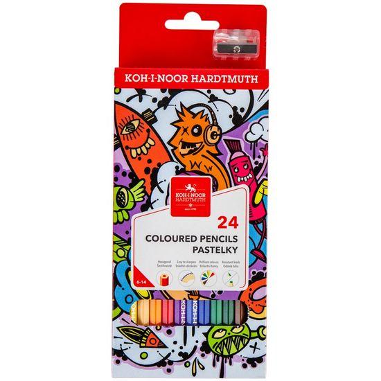 Олівці кольорові TEENAGE, 24 кольорів, картонна упаковка 3554 (1)