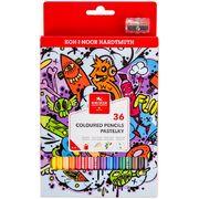 Олівці кольорові TEENAGE, 36 кольорів, картонна упаковка 3555 (1)