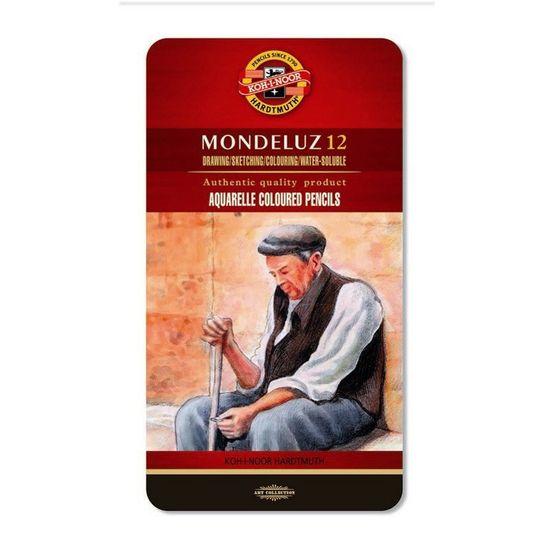 Олівці кольорові акварельні художні, 12 кольорів, подарункова металева упаковка 3722 (1)
