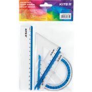 Набір: лінійка 15 см, 2 кос., трансп. (блак.смуга) K17-280-07 (1)