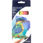 Олівці кольорові акварельні, 12 шт. Kite Птахи K18-1049 (1)