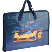 Папка-портфель на блискавці, 1 відділ., A4 Kite, Fast Cars K20-202 (1)