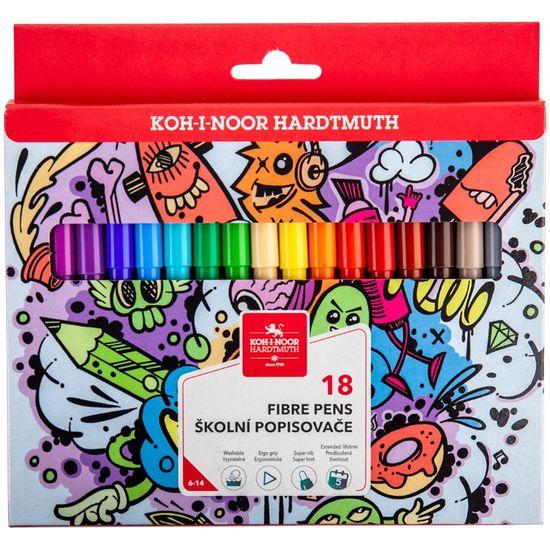 Фломастери Teenage, 18 кольорів, картонна упаковка 771002/18 (1)