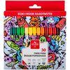 Фломастери Teenage, 30 кольорів, картонна упаковка 771002/30 (1)