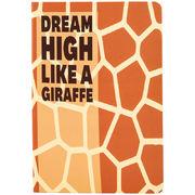 Книга записна тв. обкл, А5, 96 арк, кл, Animals Talk,Giraffe 8450-03-A (1)
