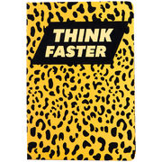 Книга записна тв. обкл, А5, 96 арк, кл, Animals Talk,Leopard 8450-04-A (1)