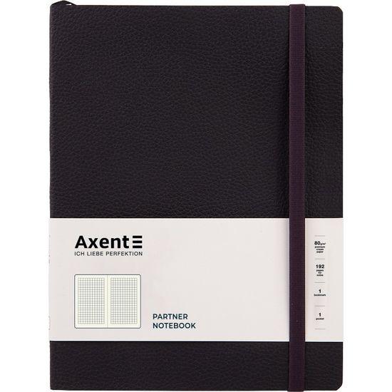 Книга записна Partner Soft L, 190*250, 96 арк, кліт, чорна 8615-01-A (1)
