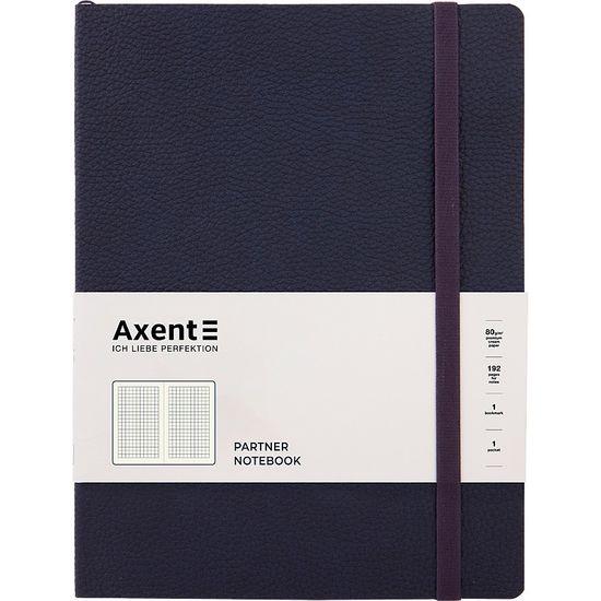 Книга записна Partner Soft L, 190*250, 96 арк, кліт, синя 8615-02-A (1)