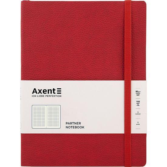 Книга записна Partner Soft L, 190*250, 96 арк, кліт, червон 8615-06-A (1)