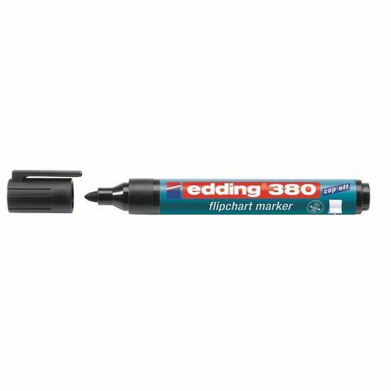 Маркер Flipchart e-380, для написів на папері для фліпчартів та інших видах паперу, чорного кольору, круглий пишучий вузол, ширина лінії 1,5-3 мм. Вироблено в Німеччині. e-380/01 (1)