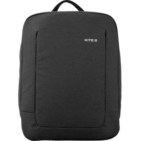 Рюкзак K20-2514M-1, ущільнена спинка, 1 відділення, відділення для ноутбука та планшета, внутрішня кишеня на резинці, карман для телефону, 2 бокові кишені на блискавці, лямка для кріплення на валізу,