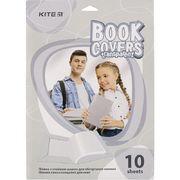 Плівка самоклеюча для книг, 50*36 см, 10 шт., прозора K20-306 (1)