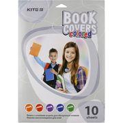 Плівка самоклеюча для книг, 50*36 см, 10 шт.,асорті кольорів K20-308 (1)