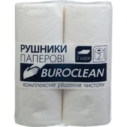 Рушники целюлозні Buroclean, 2 рулони, білі 10100400 (1/24/240)