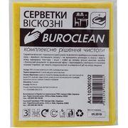 /Серветки віскозні Buroclean 30х38, 3 шт/уп 10200102 (1/100)