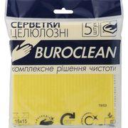 Серветки целюлозні вологопоглинаючі Buroclean 15х15, 5 шт/уп 10200113 (1/100)