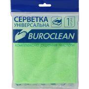 Серветка мікрофібра універсальна Buroclean 30х30 10200122 (1/100)