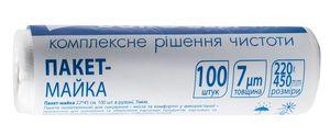 /Пакет-майка 22 * 45 см, 100шт в рулоні, 7мкм 10200510 (1/36)