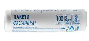 Пакет фасувальний 22 * 30 см, 100 шт в рулоні, 8 мкм 10200530 (1/40)