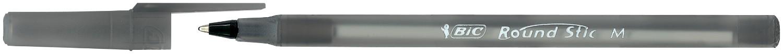 Ручка Round Stic, чорна, 0.32 мм, зі штрих-кодом на штуку bc9205681 (1/60/540)