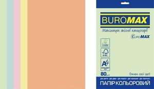 Набір кольорового паперу PASTEL, EUROMAX, А4, 80г/м2 (5х50/250арк.) BM.27212250E-99 (1/10)