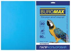 Папір кольоровий INTENSIVE, св.-синій, 20 арк., А4, 80 г/м? BM.2721320-30 (1/120)