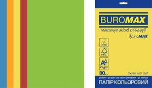 Набір кольорового паперу INTENSIVE, EUROMAX, А4, 80г/м2 (5х50/250арк.) BM.27213250E-99 (1/10)