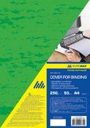 Обкладинка картонна під шкіру А4, 250г/м2, (50шт./уп.), зелена BM.0580-04 (1/50/1000/)