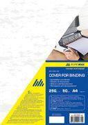 Обкладинка картонна під шкіру А4, 250г/м2, (50шт./уп.), біла BM.0580-12 (1/50/1000/)