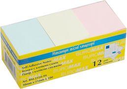 Блок для нотаток 38х51мм, 100арк., асорті BM.2310-99 (1/12/432/2)