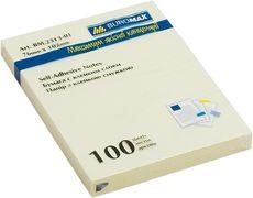 Блок для нотаток 76x102мм, 100арк., жовтий BM.2313-01 (1/12/144/8)