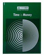 /Книга обліку TIME IS MONEY 96 арк/кліт.оф.(тв. лам. обл), А4, зелений BM.2400-104 (1/8/1300)
