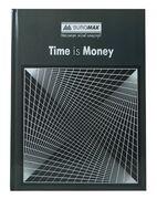 /Книга обліку TIME IS MONEY 96 арк/кліт.оф.(тв. лам. обл), А4, сірий BM.2400-109 (1/8/1300)