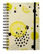 Блокнот на пружині збоку FRUCTS, А-5, 80арк., клітинка, тв. картонна обкладинка, жовтий BM.24572107-