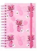 Блокнот на пружині збоку FRUCTS, А-5, 80арк., клітинка, тв. картонна обкладинка, рожевий BM.24572107