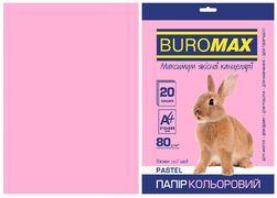 Папір кольоровий А4, 80г/м2, PASTEL, рожевий 20л. BM.2721220-10 (1/120)