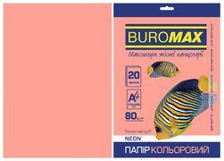 Папір кольоровий А4, 80г/м2, NEON, рожевий, 20л. BM.2721520-10 (1/150)