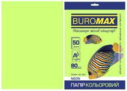 Папір кольоровий А4, 80г/м2, NEON, зелений, 50л. BM.2721550-04 (1/60)