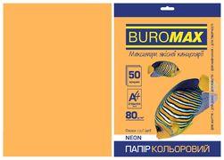 Папір кольоровий А4, 80г/м2, NEON, помаранчевий, 50л. BM.2721550-11 (1/60)